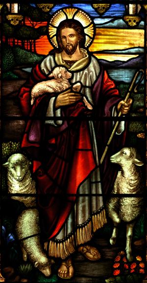 Christ, bon berger illustration du Christ pour la prière de Jean Eudes