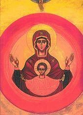 Icone de la vierge à l'enfant